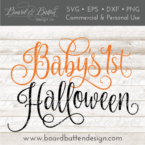 Baby's First Halloween SVG File