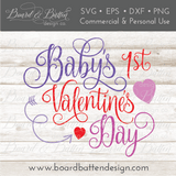 Baby's First Valentine's Day SVG - Commercial Use SVG Files