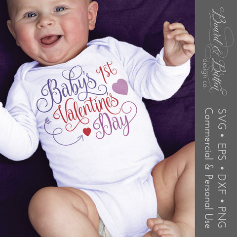 Baby's First Valentine's Day SVG