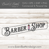 Vintage Barber Shop SVG File