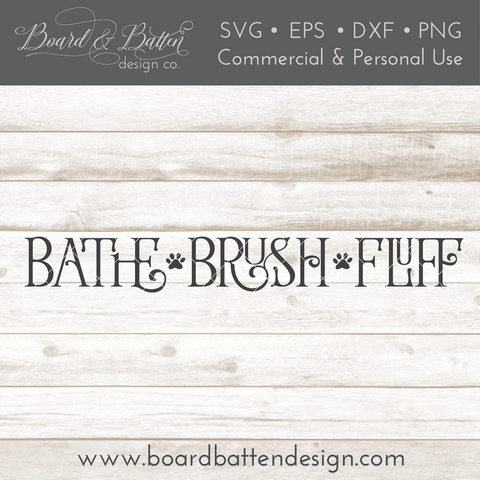 Bathe Brush Fluff Farmhouse SVG File