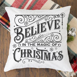 Vintage Believe In The Magic Of Christmas SVG File - Commercial Use SVG Files