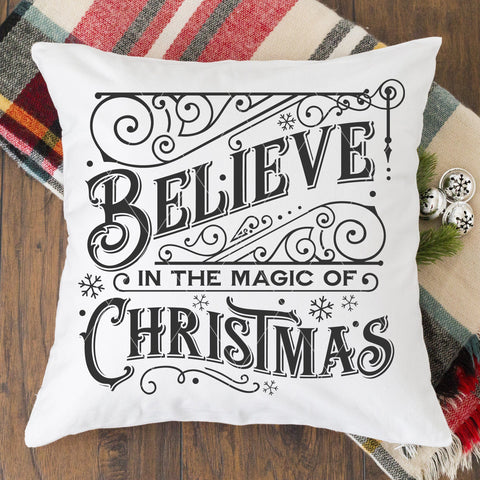 Vintage Believe In The Magic Of Christmas SVG File