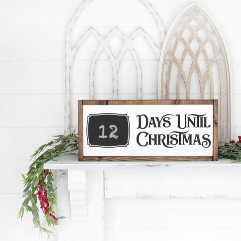Blank Days Until Christmas Chalkboard Countdown SVG File