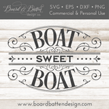 Victorian Style Boat Sweet Boat SVG File