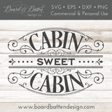 Victorian Style Cabin Sweet Cabin SVG File - Commercial Use SVG Files