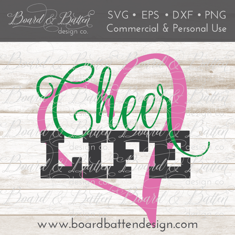 Cheer Life SVG File 1