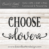 Choose Love Floral SVG File - Commercial Use SVG Files