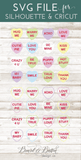 Conversation Hearts Set SVG Files - Commercial Use SVG Files