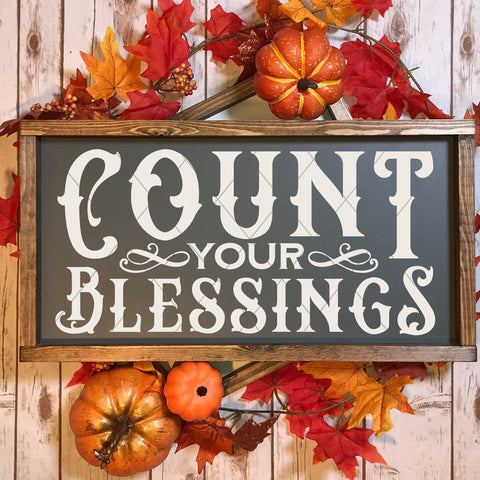 Count Your Blessings Vintage SVG File