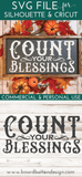 Count Your Blessings Vintage SVG File - Commercial Use SVG Files