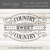 Victorian Style Country Sweet Country SVG Cut File - Commercial Use SVG Files