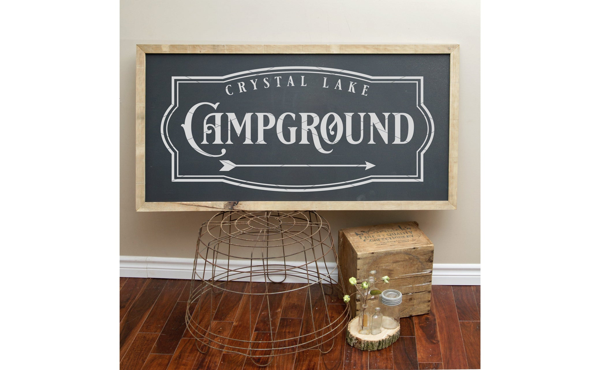 Crystal Lake Campground Sign Svg Board Amp Batten Design Co