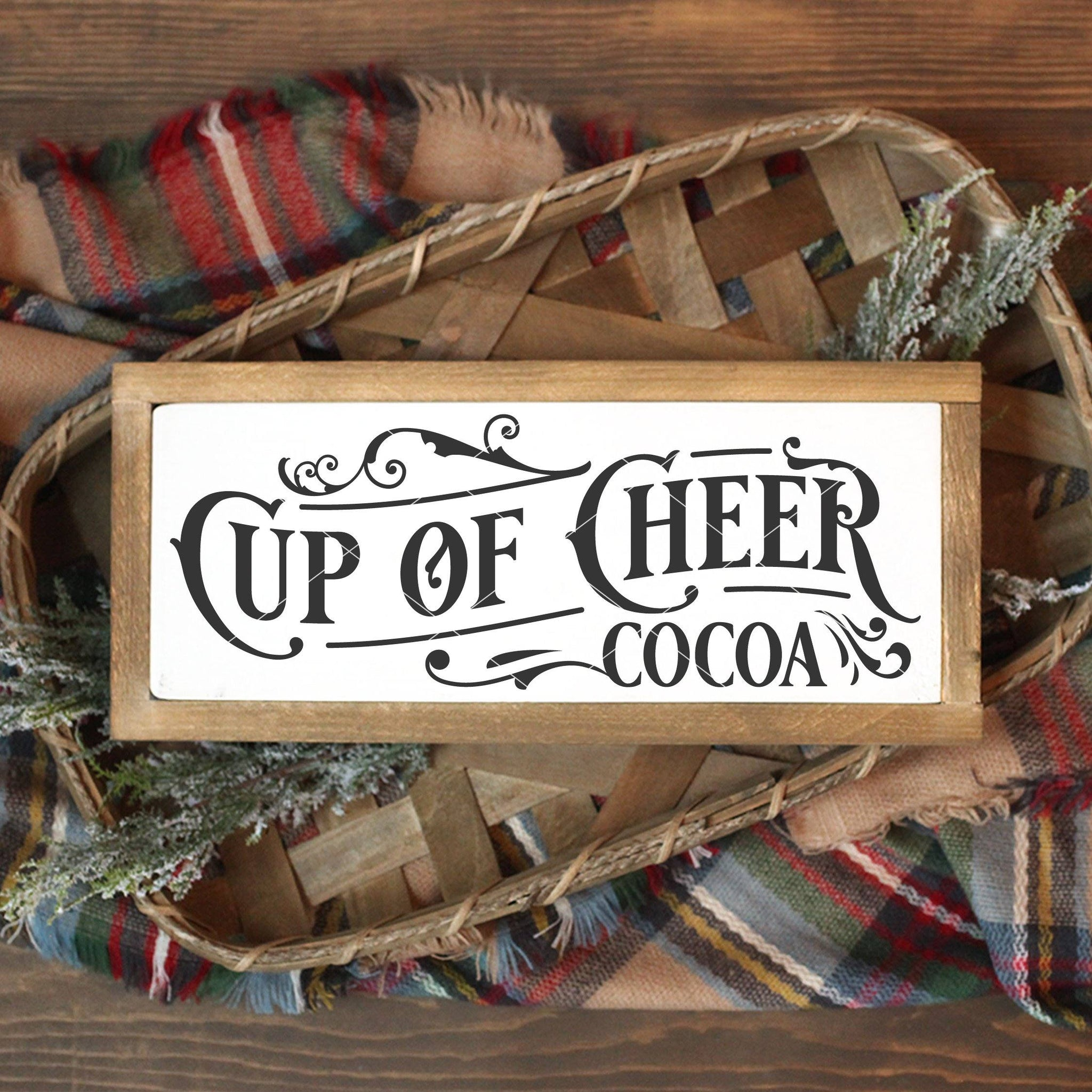Victorian Style Cup Of Cheer SVG File - Commercial Use SVG Files