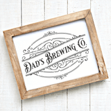 Dad's Brewing Co Vintage SVG File for Fathers - Commercial Use SVG Files
