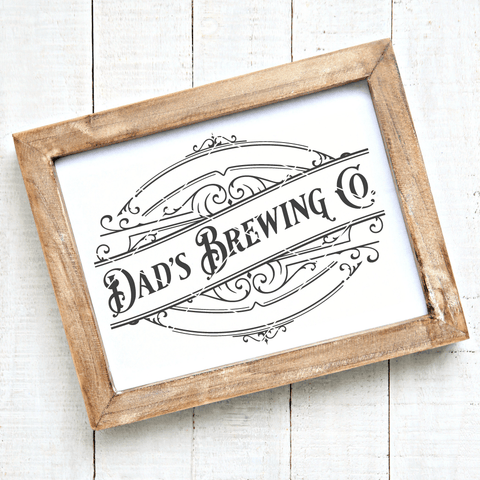 Dad's Brewing Co Vintage SVG File for Fathers
