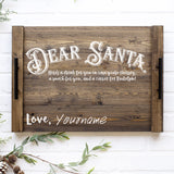 Festive Dear Santa Tray SVG File for Christmas
