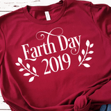 Earth Day With Date & Laurels SVG File - Commercial Use SVG Files