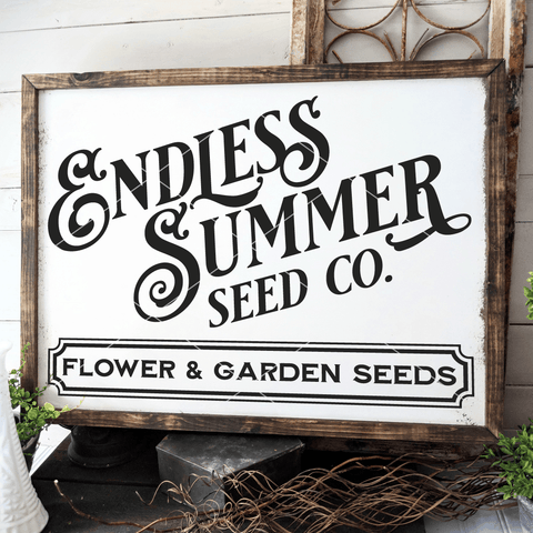Endless Summer Seed Company SVG File for Gardeners