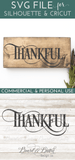 Fancy Thanksgiving Words SVG File Trio - Commercial Use SVG Files