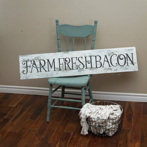 Farm Fresh Bacon SVG File Farmhouse Style