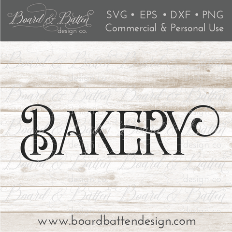 Farmhouse Bakery SVG File
