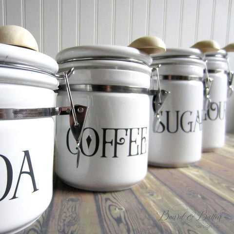Vintage Farmhouse Style Canister Label SVG Set