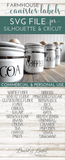 Vintage Farmhouse Style Canister Label SVG Set - Commercial Use SVG Files