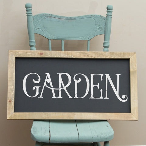 "Farmhouse Style ""Garden"" SVG File"