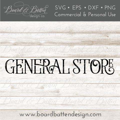 Farmhouse General Store SVG File