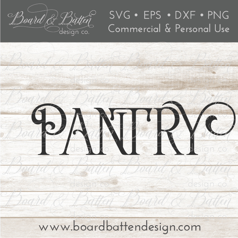 Farmhouse Pantry SVG File - Commercial Use SVG Files
