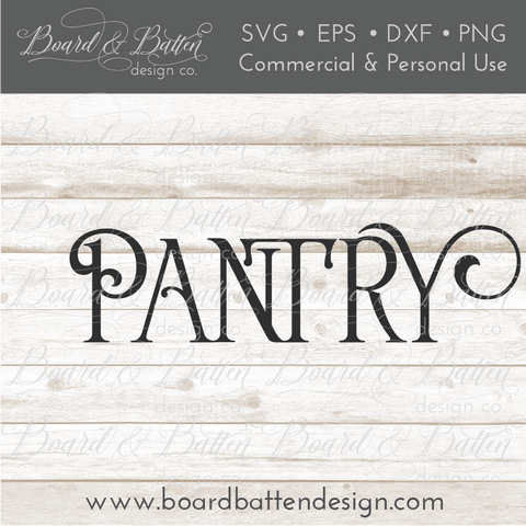 Farmhouse Pantry SVG File