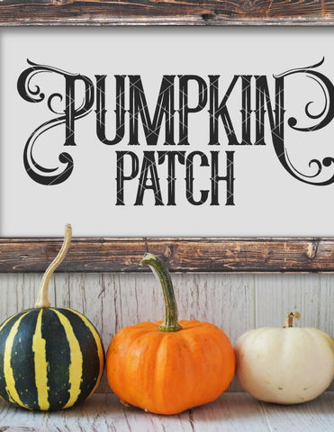 Farmhouse Pumpkin Patch SVG File
