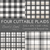 Set of 4 Cuttable Plaid SVG Files (Including Buffalo Check) - Commercial Use SVG Files