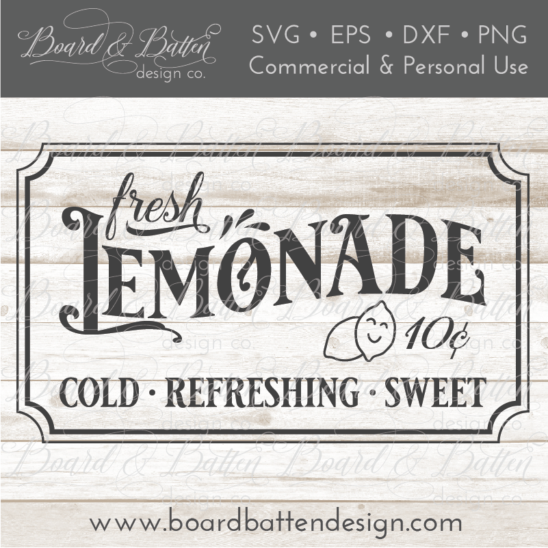 Fresh Lemonade Vintage SVG File - Commercial Use SVG Files