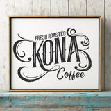 Fresh Roasted Kona Coffee SVG File - Commercial Use SVG Files