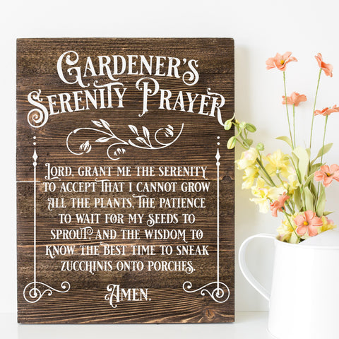 Gardener's Serenity Prayer SVG File