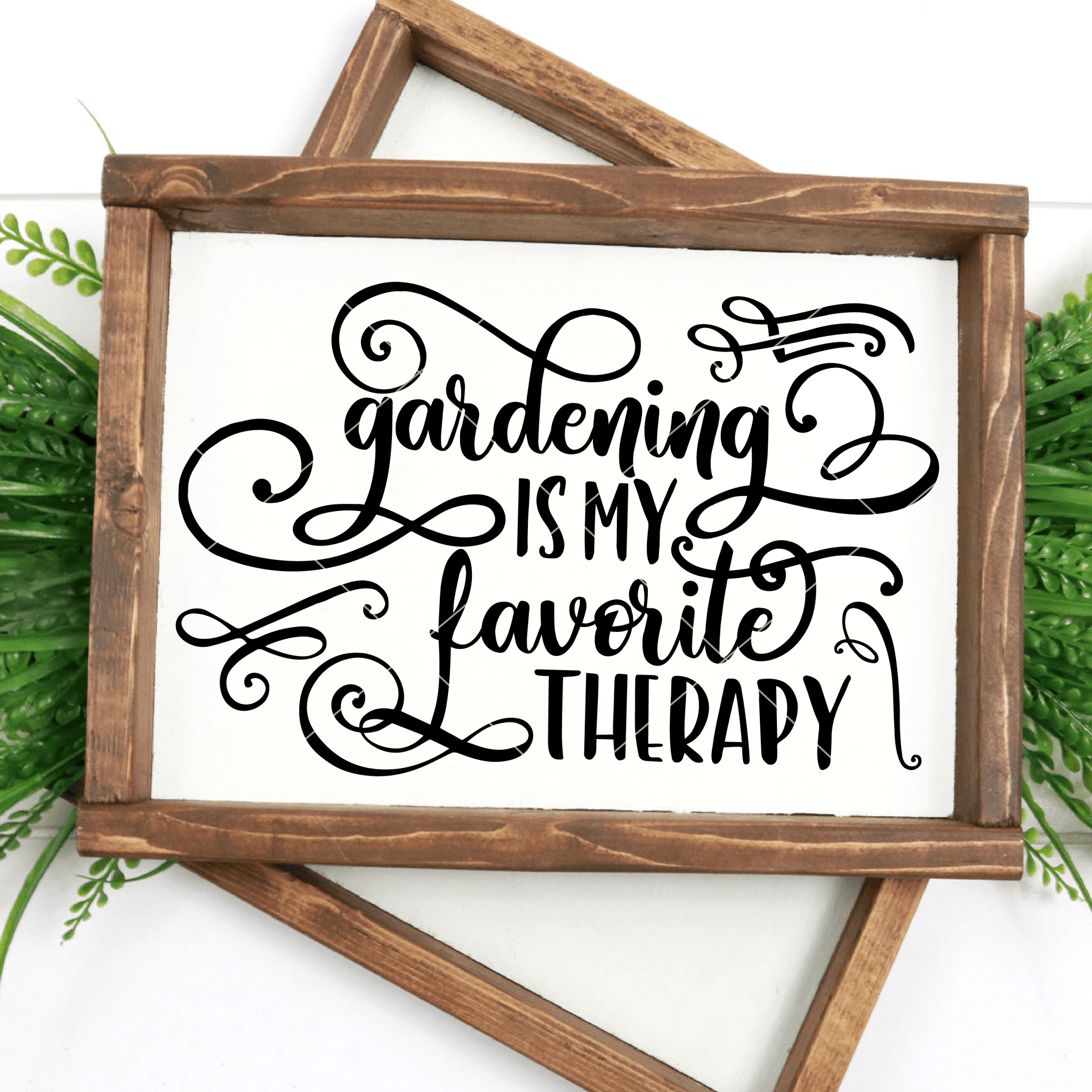 Gardening Is My Favorite Therapy SVG File - Commercial Use SVG Files