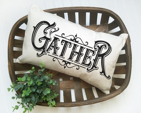 Fancy Vintage Gather SVG File
