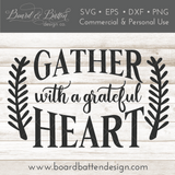 Gather Here With A Grateful Heart Vintage SVG Cut File