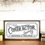 Vintage Style General Contractor Sign SVG File - Commercial Use SVG Files