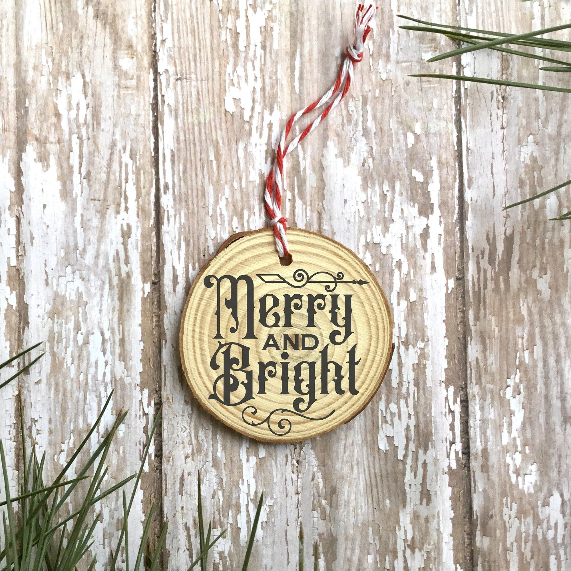 Gothic Christmas Ornament SVG File - Merry and Bright