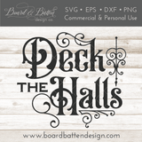 Gothic Christmas Ornament SVG File - Deck the Halls