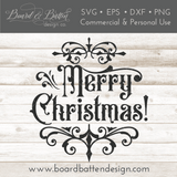 Gothic Christmas Ornament SVG File - Merry Christmas - Commercial Use SVG Files
