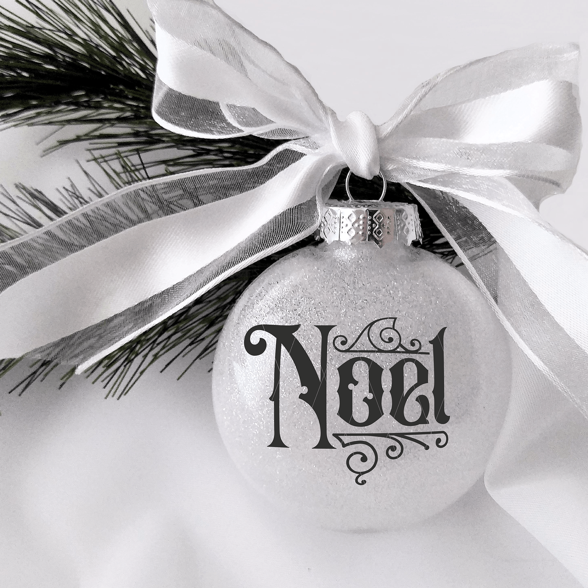 Gothic Christmas Ornament SVG File - Noel
