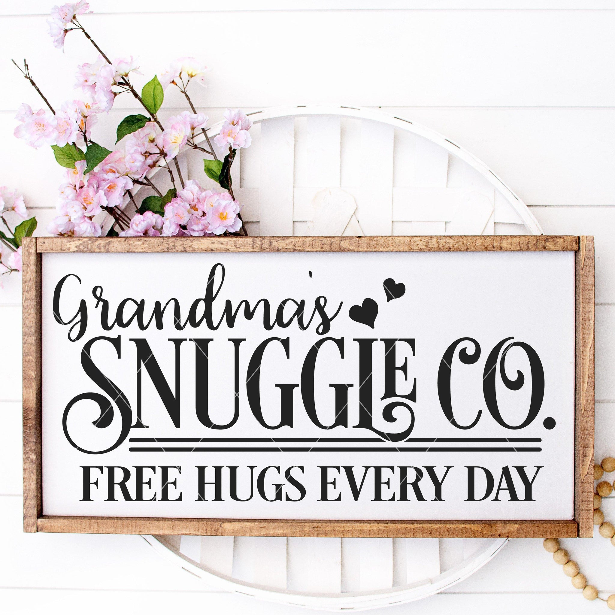 Grandma's Snuggle Co Vintage SVG With Mom & Auntie Variations - Commercial Use SVG Files