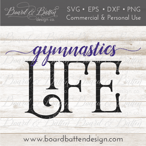 Gymnastics Life SVG File