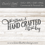 Personalizable Handcrafted By SVG File - Commercial Use SVG Files