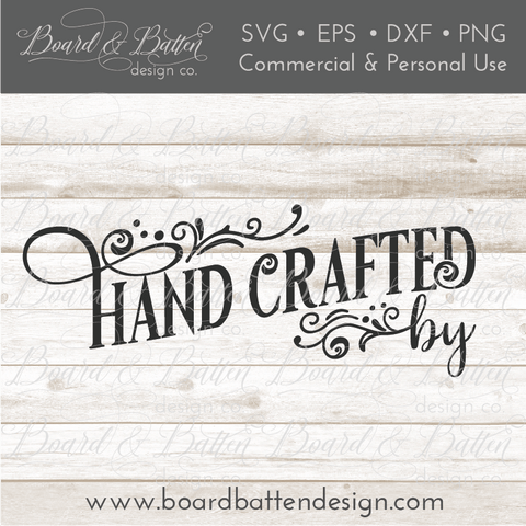 Personalizable Handcrafted By SVG File