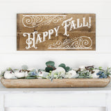 Victorian Style Happy Fall SVG Cut File for Autumn - Commercial Use SVG Files